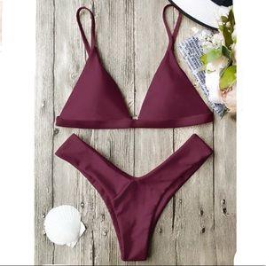 Maroon bikini set